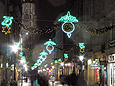 cracow streets, cracow 2007, christmas decorations